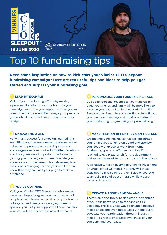 2020 Fundraising Tips