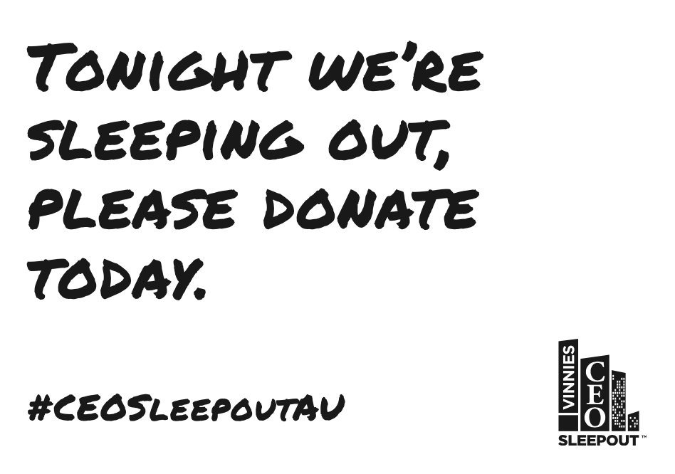 Printable Sign - Tonight Please Donate BW